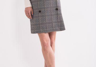 Karirana suknja sa dugmićima