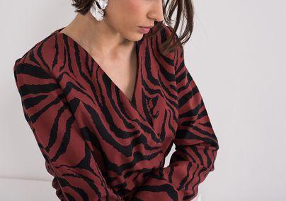 Trendi haljina animal printa