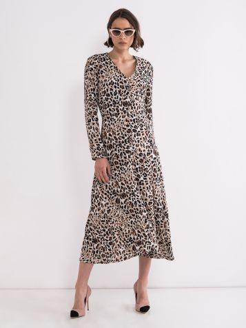 Obleka v leopardnem tisku