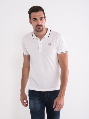 Majica sa kragnom bele boje