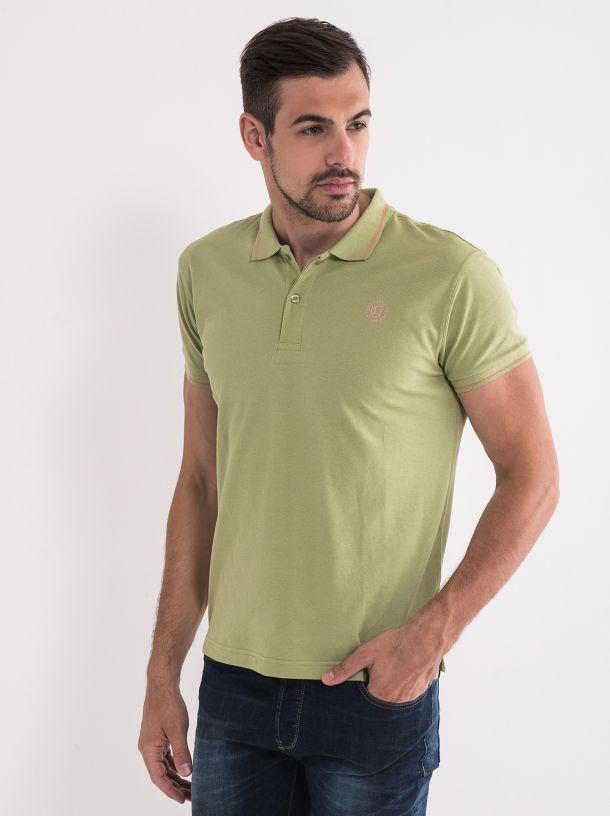 Majica sa kragnom zelene boje