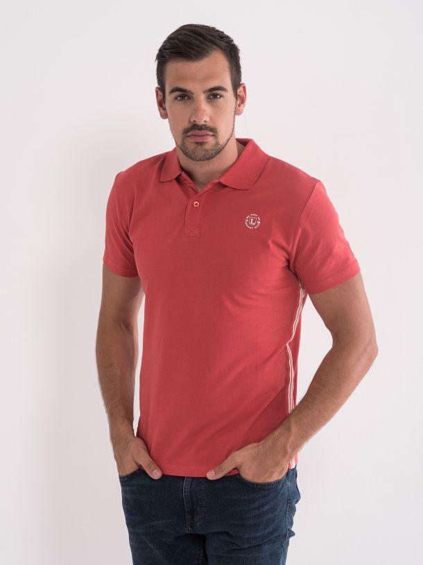 Muška majica sa kragnom crvena