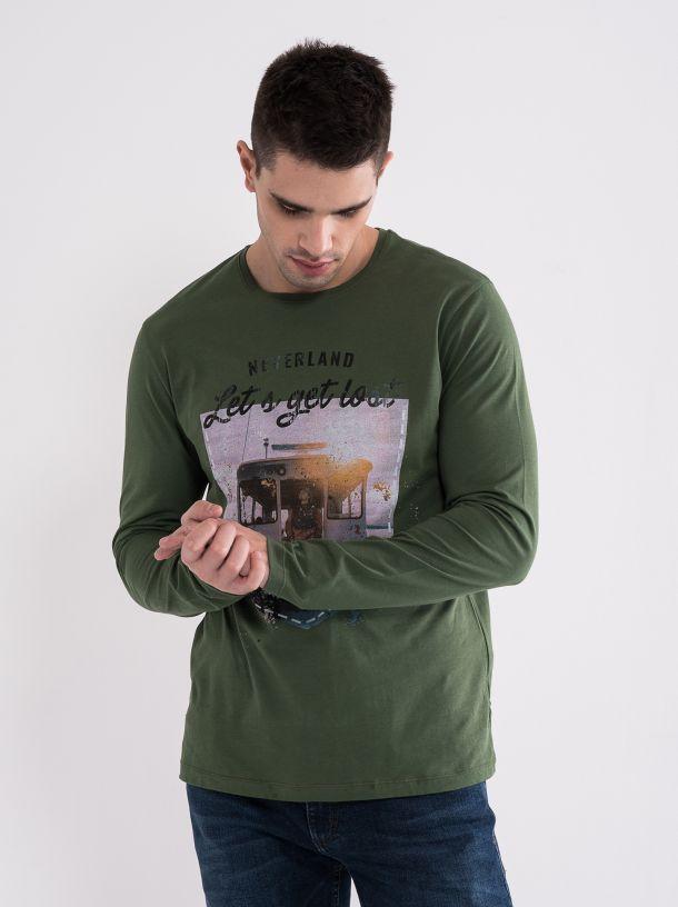 Maslinasta muška majica