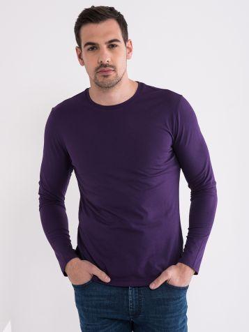 Vijolična moška basic majica