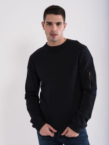 Moški črn pulover