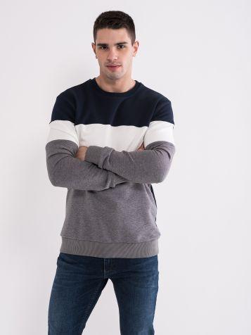 Moški tri barvni pulover