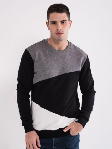 Moški pulover v treh barvnih kombinacijah