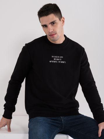 Moški pulover z napisom