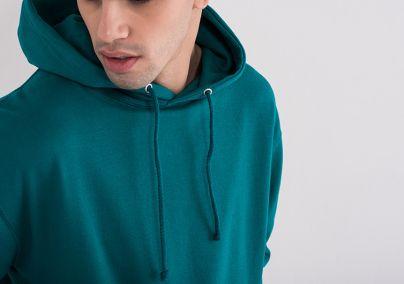 Muški duks sa kapuljačom zeleni