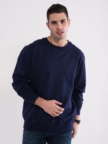 Osnovna moška športna pulover temnomodre barve