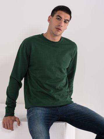 Moški osnovni pulover, zelen
