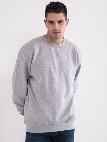 Moški osnovni pulover, siv