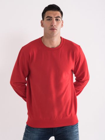 Moški osnovni pulover, rdeč