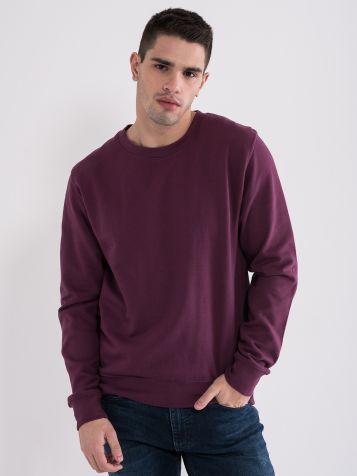 Moški osnovni pulover, vijoličen