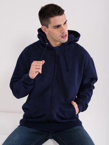 Moški pulover s kapuco
