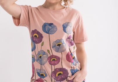 Ženska majica sa cvetovima