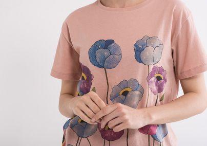 Ženska majica sa cvijetovima