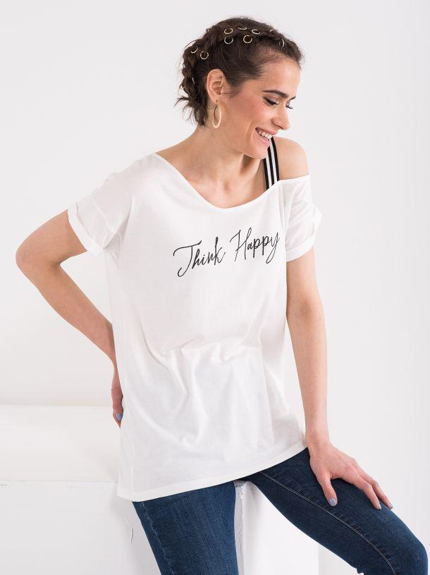 Majica sa asimetričnim izrezom
