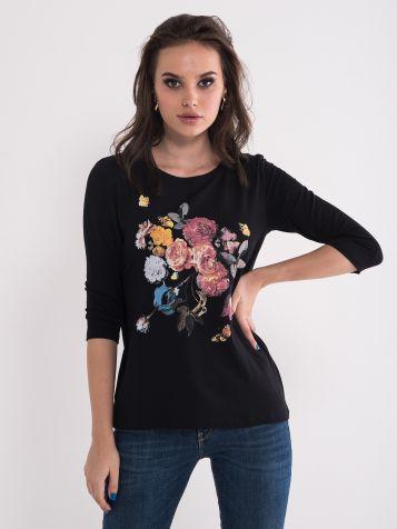 Majica sa printom cvijeća
