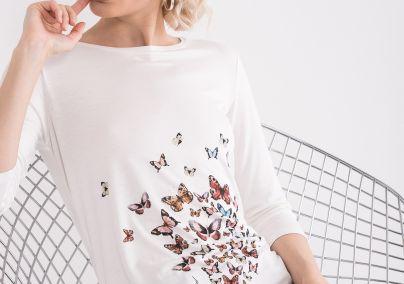 Majica sa štampom leptira