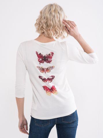 Majica sa detaljem leptira na leđima