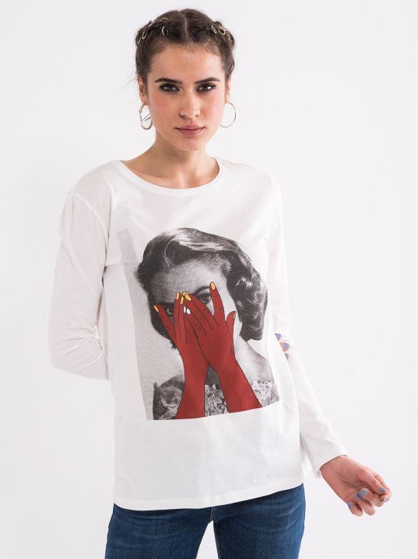 Ženska majica sa retro printom