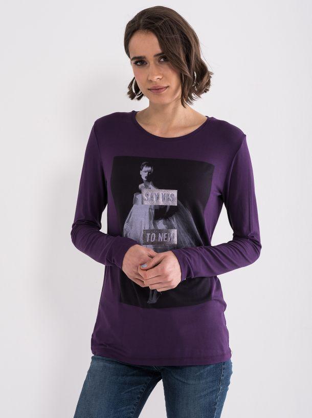 Ljubičasta ženska majica