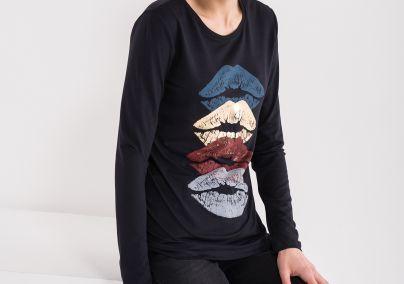 Majica sa printom usana