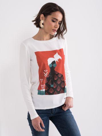 Majica sa šarenim printom