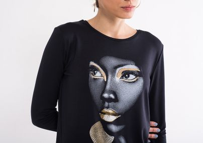 Majica sa likom devojke