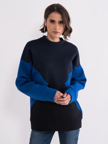 Ženski pulover s prevelikimi dimenzijami