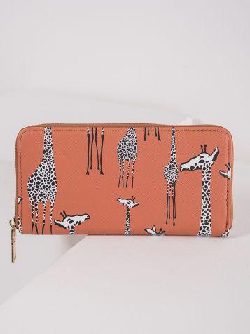 Denarnica z žirafjim vzorcem
