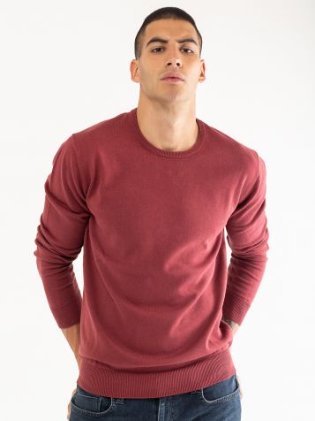 Basic džemper okrugli izrez