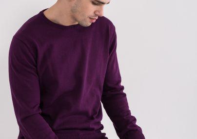 Basic džemper ljubičasti