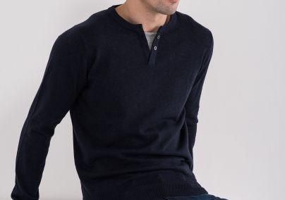Teget džemper sa dugmićima