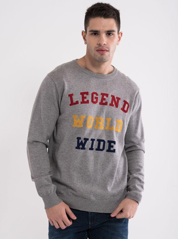 Džemper sa šarenim slovima