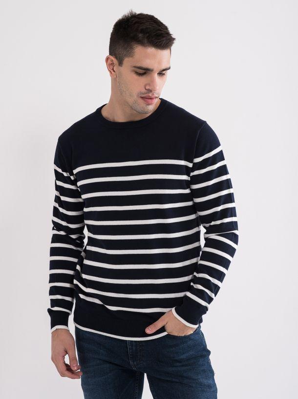 Prugasti muški džemper