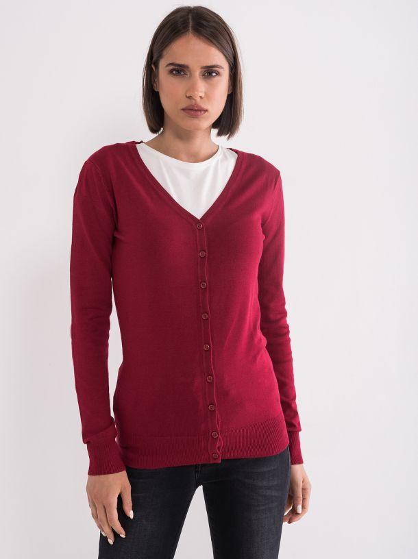 Džemper sa dugmićima crveni