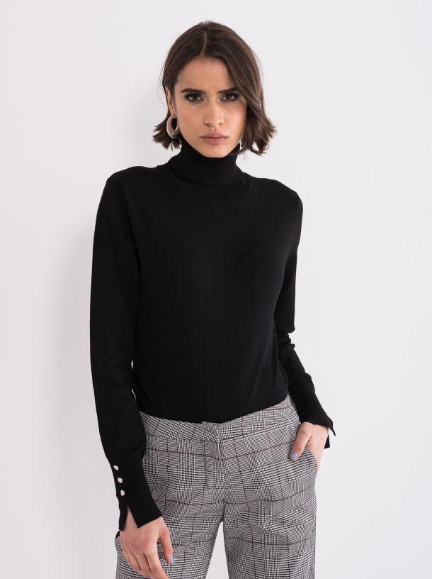 Džemper sa rolkom crni