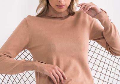 Džemper sa rolkom bež