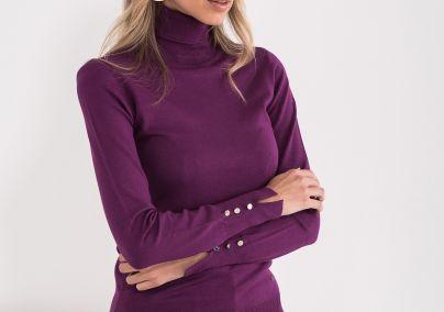 Džemper sa rolkom ljubičasti