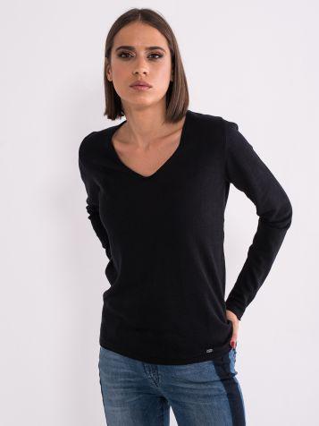 Ženski džemper V izreza