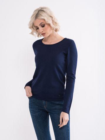 Teget basic džemper