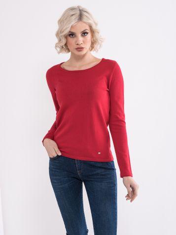 Crveni basic džemper