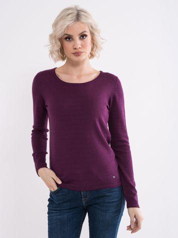 Ljubičasti basic džemper