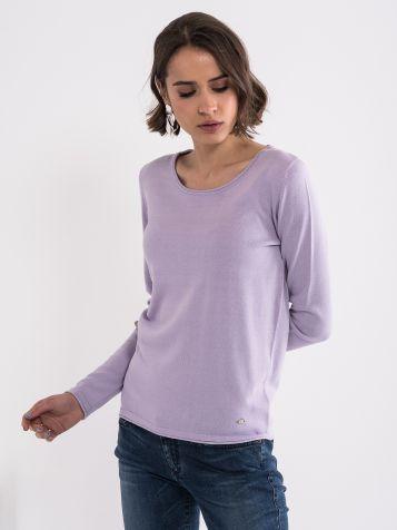 Lila basic džemper