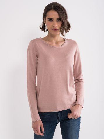 Roze basic džemper