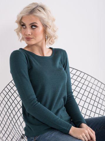 Tamno zeleni basic džemper