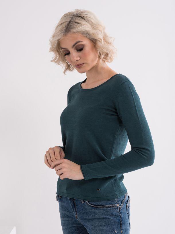 Tamno zeleni ženski džemper