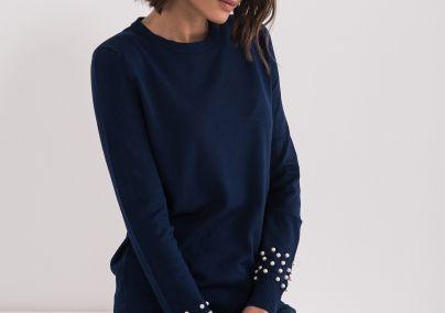 Džemper sa bisernim perlama